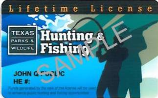 Image gallery tpwd hunting for Louisiana lifetime fishing license