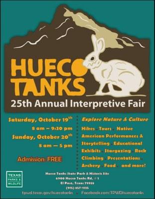 Flyer for the 25th Interpretive Fair at Hueco Tanks