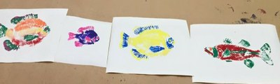 Colorful fish prints