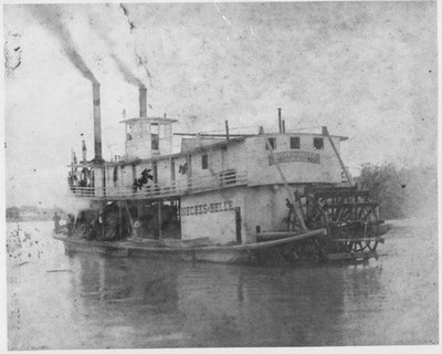 "A historic photo of a steamboat called ""Laura"""