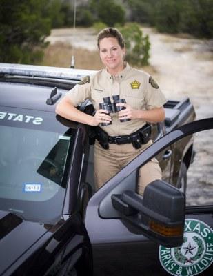 Female park ranger in uniform