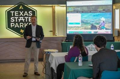 TPWD staff doing a presentation