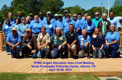 TPWD Area Chief group photo 2013