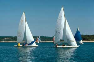 Sailboats enjoying a day on the water