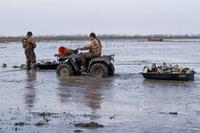 Hunters with ATV