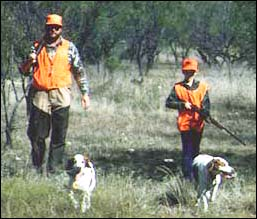 Man and Boy Hunting