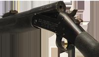Break action rifle close up