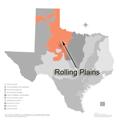 Texas Ecoregions Texas Parks Wildlife Department - Central plains on us map
