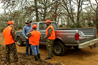 hunters greeting landowner