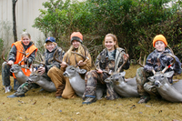 Youth hunters with their harvests
