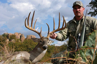 WMA hunter with his harvested buck