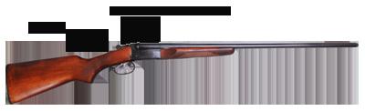 double barrel side by side break away shotgun