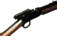 image of pump action position on rifle
