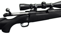 Closeup image of open bolt action.
