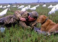 Hunter and dog corrected