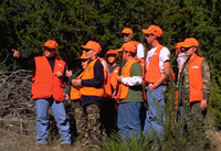 Hunter Ed students wearing Hunter Safety  Orange