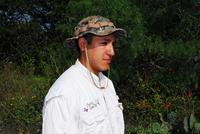 Hunter wearing hat