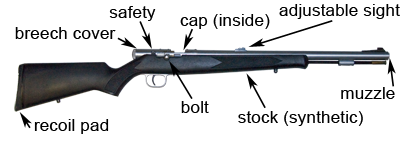 diagram of inline muzzleloader (bolt) — texas parks & wildlife department  texas parks and wildlife - texas.gov