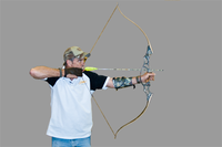archer drawing recurve bow