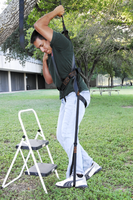 practice using the harness