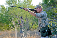 dove hunter aiming