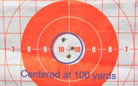 Shots centeres at 100 yards
