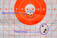 Adjusted shot groupings