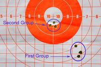 Adjusted shot groupings