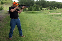 Shooter in standing position