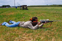 Shooter in prone position