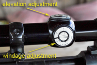Sight adjustment locations on gun