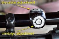 Sight adjustment locations on gun