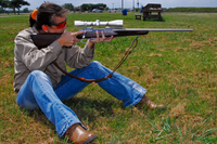 Shooter in sitting position