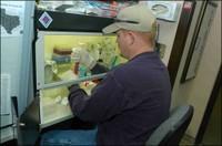 Greg Southard Working on Virology Samples