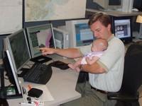 Paul Yura with Baby