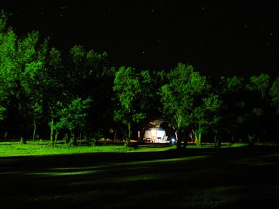 A yurt at Abilene State Park (photo TPWD)