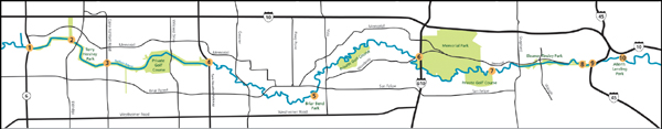 Bayous In Houston Map.Tpwd Buffalo Bayou Texas Paddling Trails
