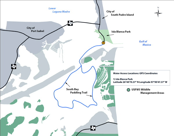 Map Of Texas Islands.Tpwd South Bay Paddling Trail Texas Paddling Trails