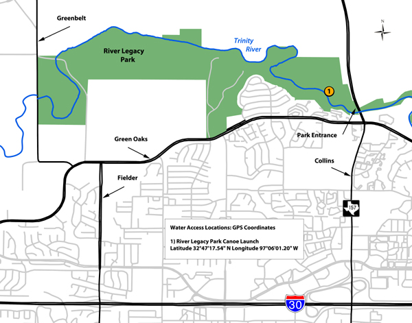 Tpwd river legacy parks texas paddling trails for How far is waco texas from houston texas