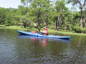 Tpwd hell 39 s half acre paddling trail texas paddling for Caddo lake fishing