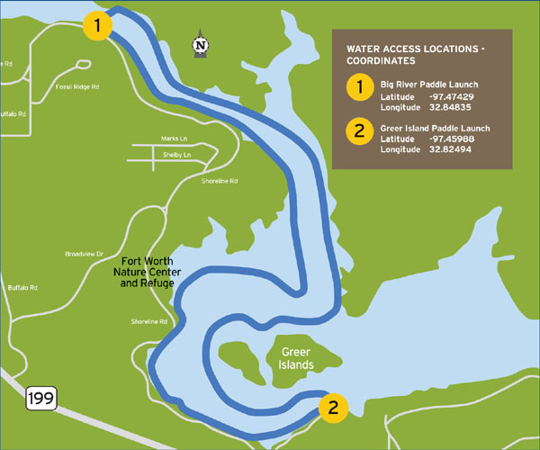 TPWD: Fort Worth Nature Center & Refuge Paddling Trail | | Texas ...