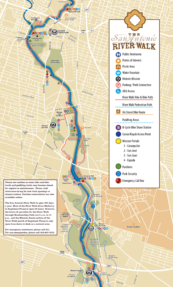 Distance From Dallas To Austin >> TPWD: Mission Reach Paddling Trail | | Texas Paddling Trails