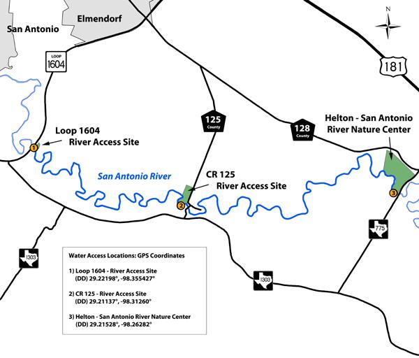 Tpwd Saspamco Paddling Trail Texas Paddling Trails