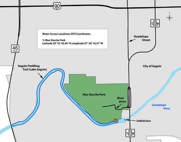 Seguin Texas Map >> Tpwd Seguin Paddling Trail Lake Seguin Texas Paddling Trails