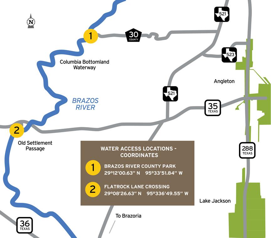 Tpwd Stephen F Austin Paddling Trail Columbia Bottomland Waterway Texas Paddling Trails