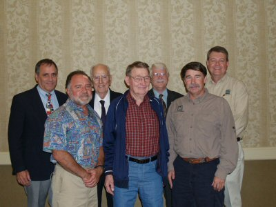 image of coastal fisheries directors - back Rayburn, Moore, Matlock, Mckinney; front 