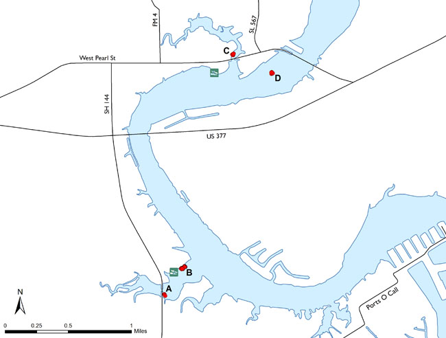 Fish attractors in lake granbury for Lake granbury fishing