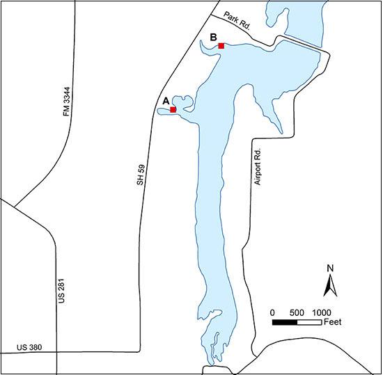 Map Of Jacksboro Texas.Access To Lake Jacksboro