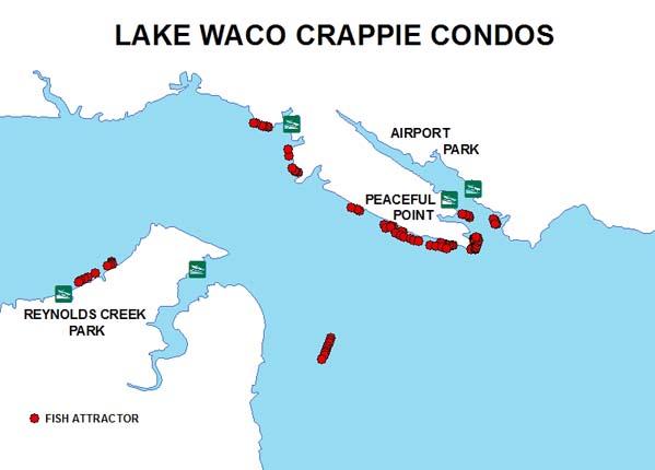 Fish Attractors in Lake Waco