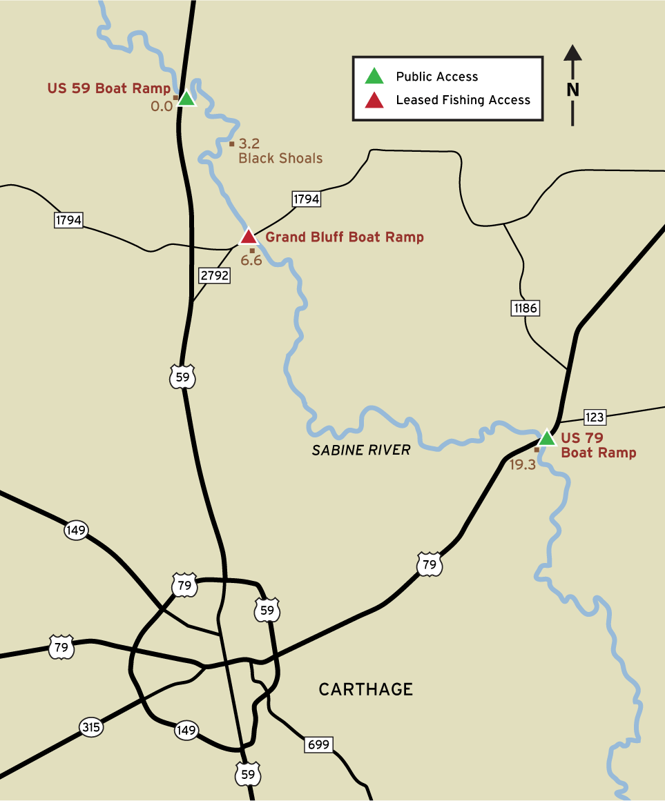 Sabine River Map Sabine River Fishing